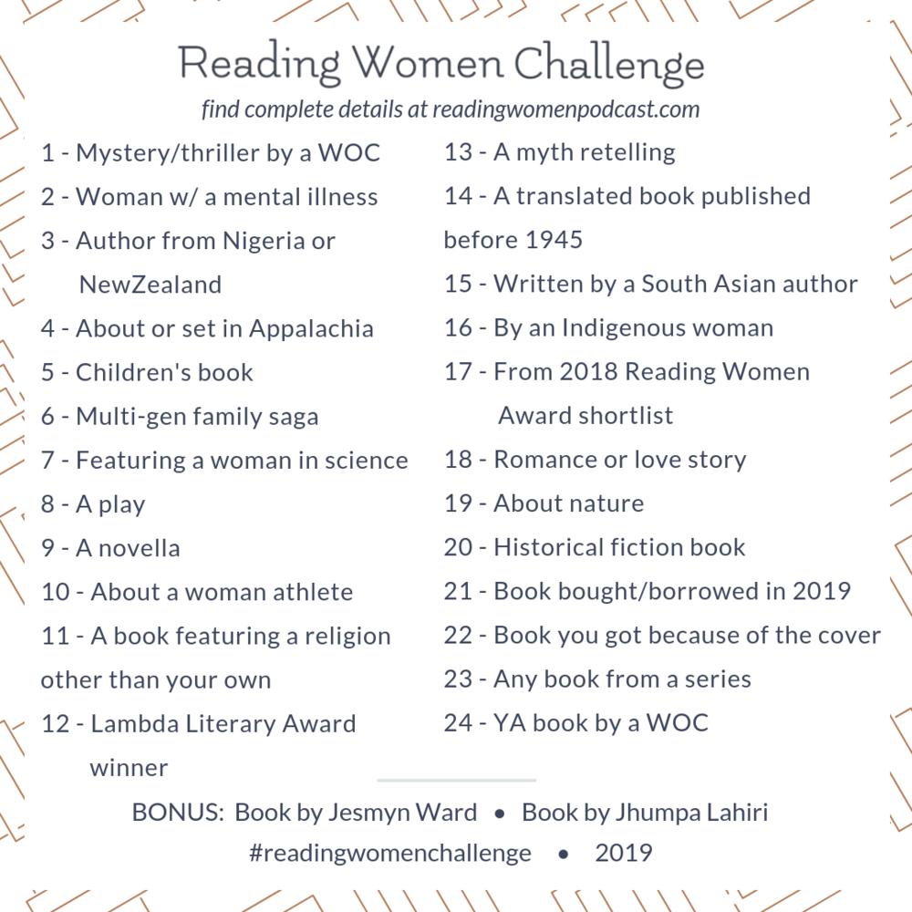 2019 Read Women Challenge