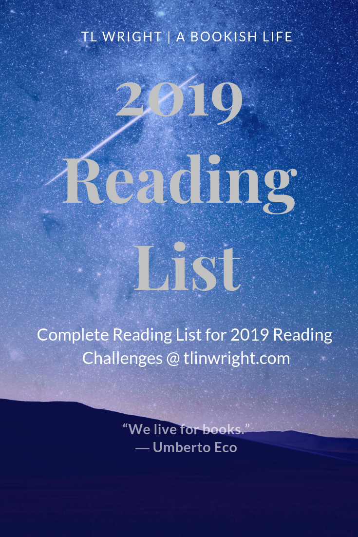 2019 Reading Challenges List of Books @ TL Wright | A Bookish Life